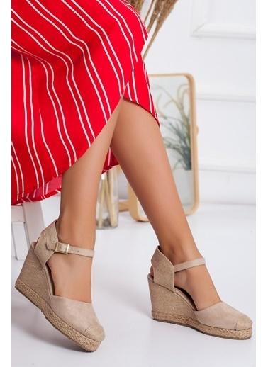 Dilimler Ayakkabı Sandalet Ten